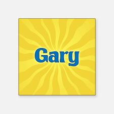"Gary Sunburst Square Sticker 3"" x 3"""