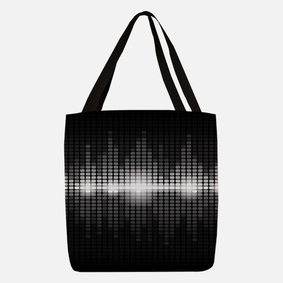 Sound Wave Polyester Tote Bag