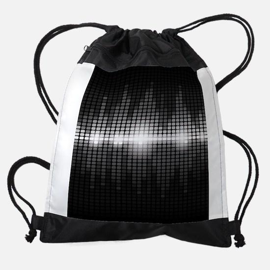 Sound Wave Drawstring Bag