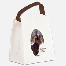 Australian Kelpie Christmas Canvas Lunch Bag