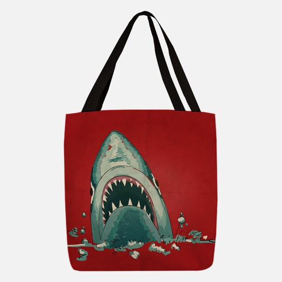 Shark Attack Polyester Tote Bag