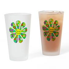 Cool Flower Power Drinking Glass