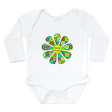Cool Flower Power Long Sleeve Infant Bodysuit