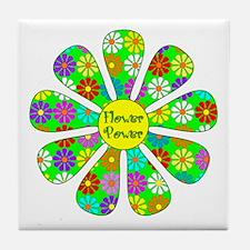 Cool Flower Power Tile Coaster