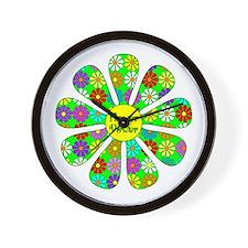 Cool Flower Power Wall Clock