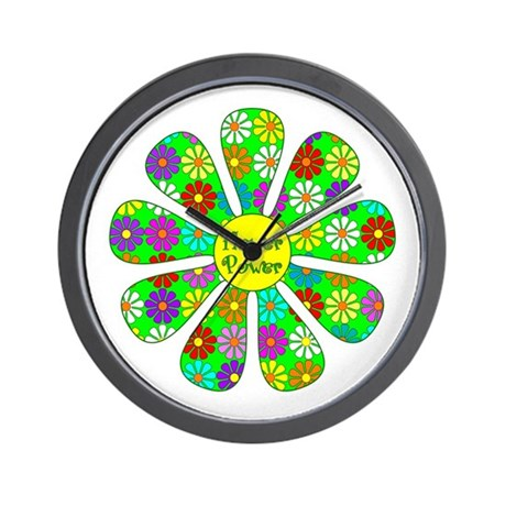 Cool Flower Power Wall Clock By Giftmart