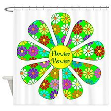 Cool Flower Power Shower Curtain