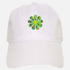 Cool Flower Power Baseball Baseball Cap
