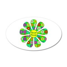 Cool Flower Power 35x21 Oval Wall Decal