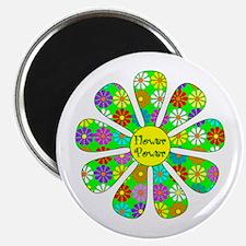 Cool Flower Power Magnet