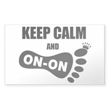 Keep Calm On On Foot Decal