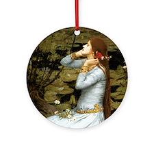 Waterhouse Ophelia Ornament (Round)