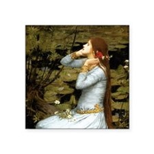 "Waterhouse Ophelia Square Sticker 3"" x 3"""