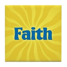 Faith Sunburst Tile Coaster