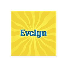 "Evelyn Sunburst Square Sticker 3"" x 3"""