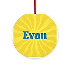 Evan Sunburst Ornament (Round)
