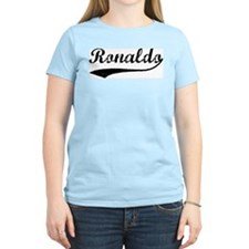 Vintage: Ronaldo Women's Pink T-Shirt