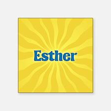 "Esther Sunburst Square Sticker 3"" x 3"""