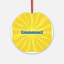 Emmanuel Sunburst Ornament (Round)
