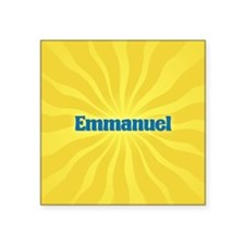 "Emmanuel Sunburst Square Sticker 3"" x 3"""