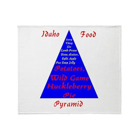 Idaho Food Pyramid Throw Blanket