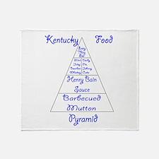 Kentucky Food Pyramid Throw Blanket