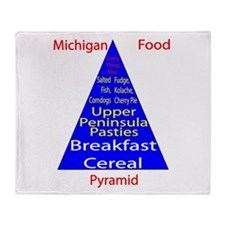 Michigan Food Pyramid Throw Blanket