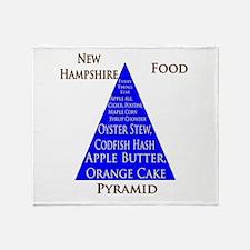 New Hampshire Food Pyramid Throw Blanket