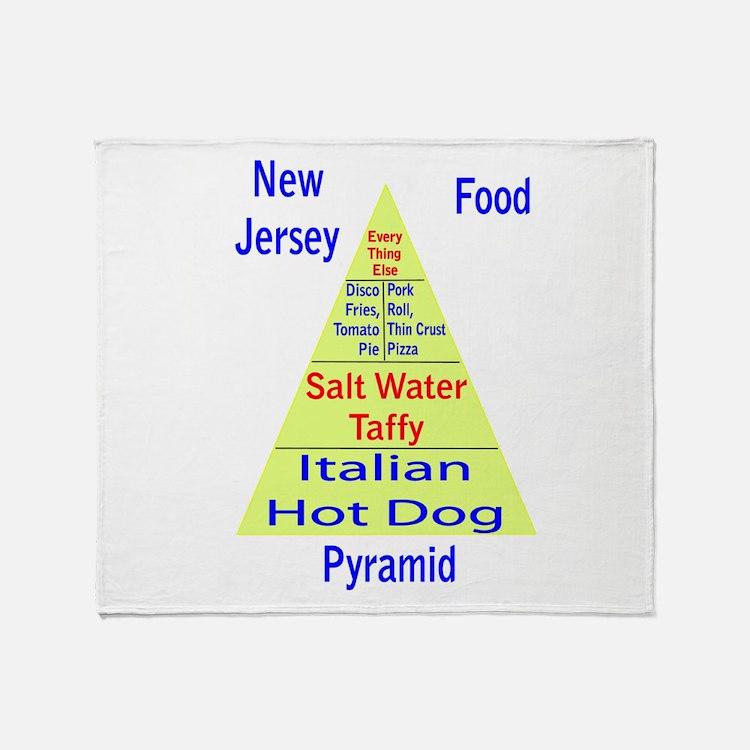 New Jersey Food Pyramid Throw Blanket