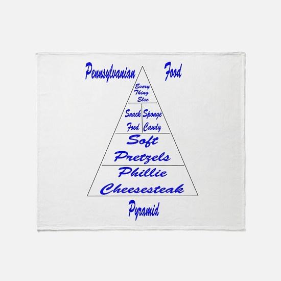 Pennsylvanian Food Pyramid Throw Blanket