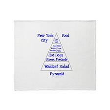New York City Food Pyramid Throw Blanket