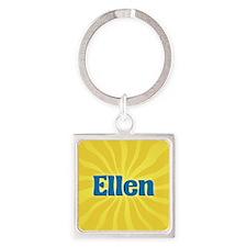 Ellen Sunburst Square Keychain