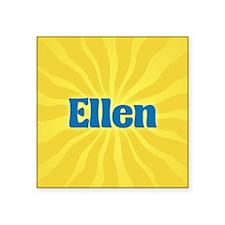 "Ellen Sunburst Square Sticker 3"" x 3"""