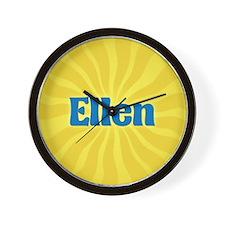 Ellen Sunburst Wall Clock