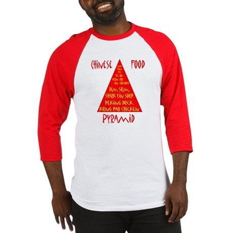 Chinese Food Pyramid Baseball Jersey