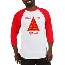 Chinese Food Pyramid Baseball Jersey