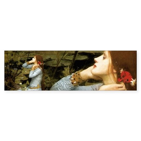 Waterhouse Ophelia Sticker (Bumper)