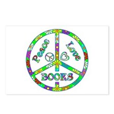 Peace Love Books Postcards (Package of 8)
