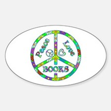 Peace Love Books Decal