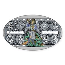 St Michael Rectangle Decal