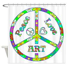 Peace Love Art Shower Curtain