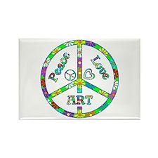 Peace Love Art Rectangle Magnet