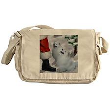 American Eskimo Dog Messenger Bag