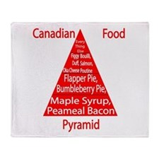 Canadian Food Pyramid Throw Blanket