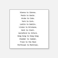 "Rhyming journeys Square Sticker 3"" x 3"""