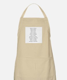 Rhyming journeys Apron