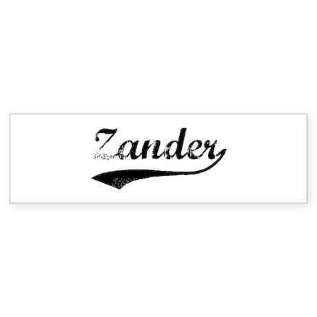 Vintage: Zander Bumper Sticker