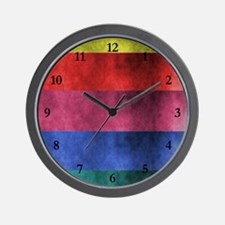 Color Abstract Style Wall Clock