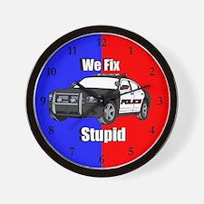 Police We Fix Stupid Wall Clock