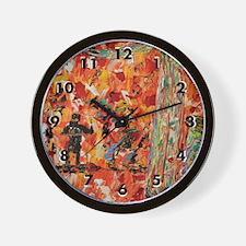 All That Jazz Modern Art Wall Clock